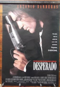 Desperado, Original DS Movie Poster, Antonio Banderas, Salma Hayek, '95